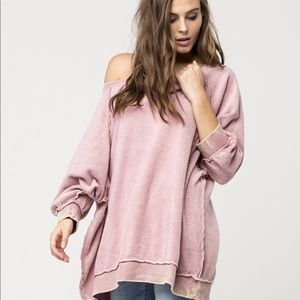Free People My Pullover Oversized Sweatshirt